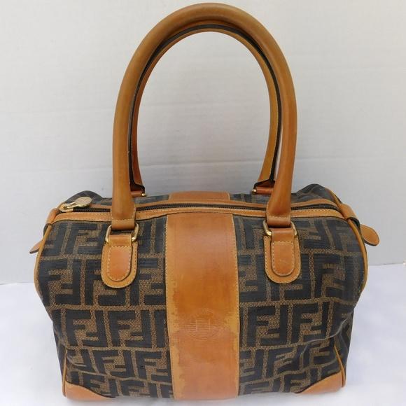 a5e2620669418 FENDI Handbags - AUTHENTIC FENDI ZUCCA BOSTON SPEEDY SATCHEL